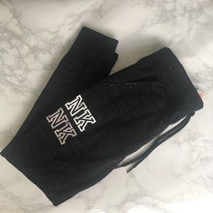 PINK new black sweatpants size Small